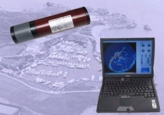 Model 1640 high resolution imaging sonar with notebook PC.