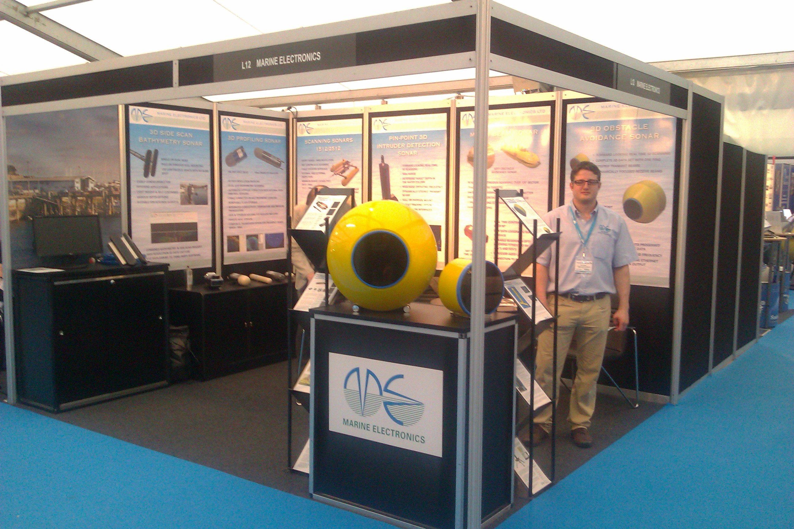 Marine Electronics stand at Ocean Business 2013