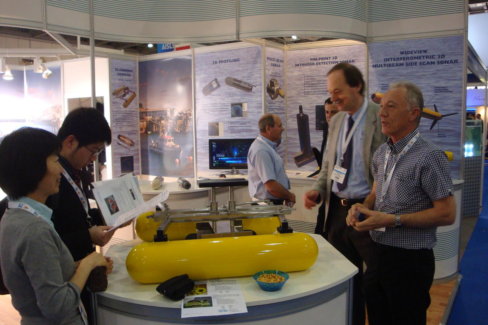 Marine Electronics stand at Oceanology 2012